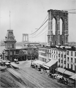 Fulton Ferry Landing in 1880